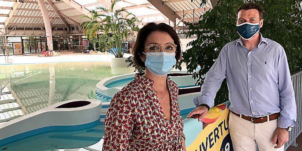 Emmanuelle Bon, directrice d'Aquatropic, et Yannick Monvoisin de la SPL Agate.