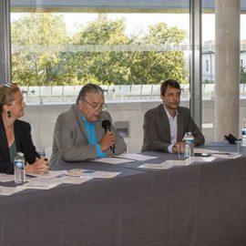 Conférence de presse du 23 septembre 2021 sur le bilan touristique de l'été 2021 - De gauche à droite : Frederic Pastor, Sophie Roulle, Jean-Paul Fournier et Xavier Douais.
