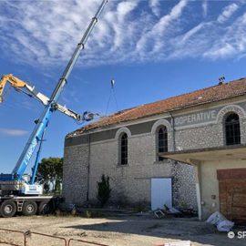 Démolition de l'ancienne cave coopérative de La Calmette - 21 septembre 2021