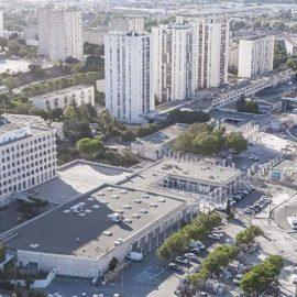 Requalification du coeur de quartier de Pissevin - vue depuis valdegour